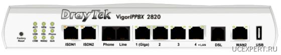 Wi-Fi DrayTek VigorIPPBX 2820 front