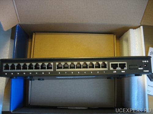 Упаковка и внешний вид Yeastar MyPBX 1600 V4