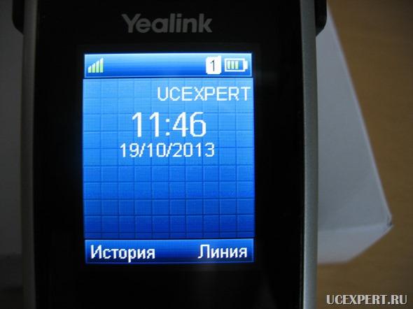 Экран трубки Yealink W52H
