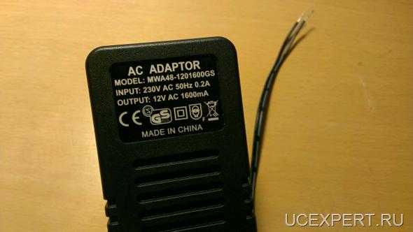 Адаптер переменного тока 12 Вольт.SIP-домофон ITS Pantel/Pancode 956PA