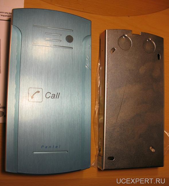 Фронтальная панель SIP-домофона  ITS Pantel 956PA с защитной пленкой и крышка для крепления на стене