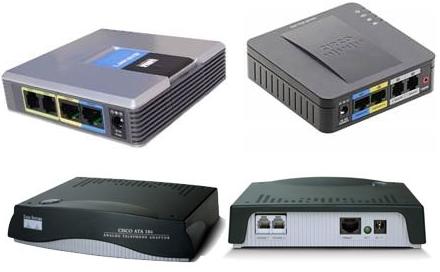 Изображение. Аналоговые VoIP-адаптеры
