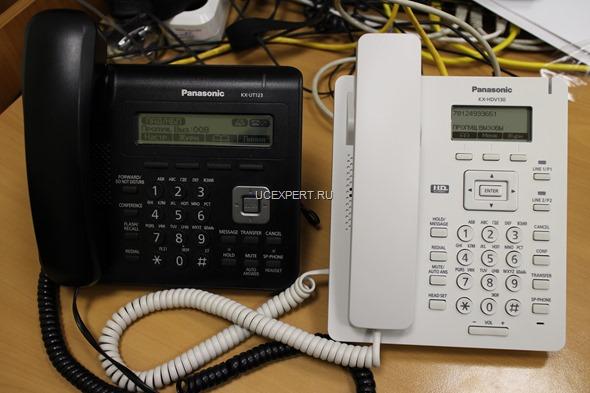 Рис.SIP-телефоны Panasonic KX-UT123 и KX-HDV130 рядом
