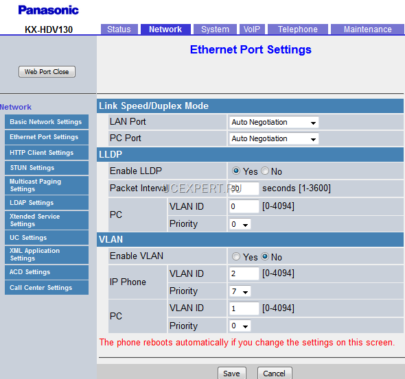 Рис. Веб-интерфейс. Меню Basic Network Settings