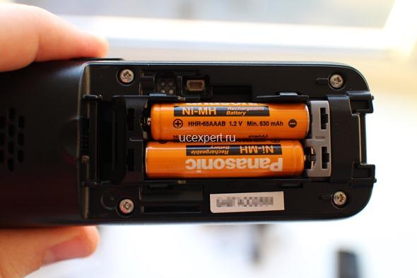Рис. Отсек для установки аккумуляторов Panasonic KX-TPA60