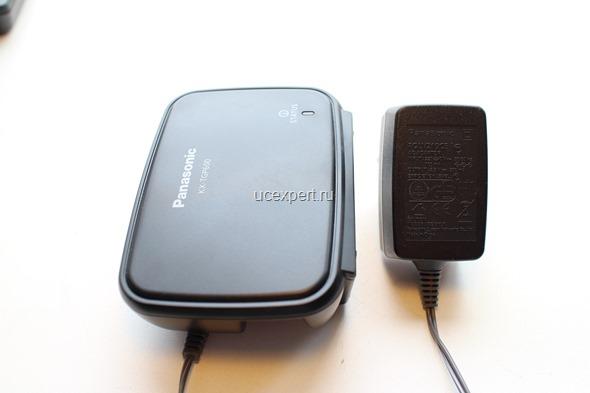 Рис. Базовый блок и блок питания для базы Panasonic KX-TGP600