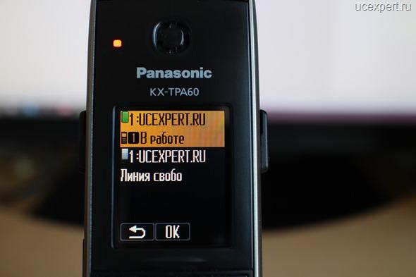 Рис. Статус каналов SIP-линий. Экран Panasonic KX-TPA60