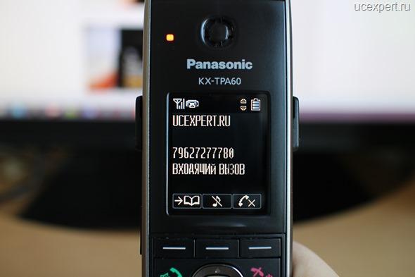 Рис. Входящий вызов. Экране Panasonic KX-TPA60.