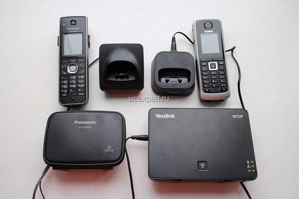 Рис. Сравнение Panasonic KX-TGP600 и Yealink W52P