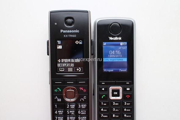 Сравнение Yealink KX-TPA60 и Yealink W52H