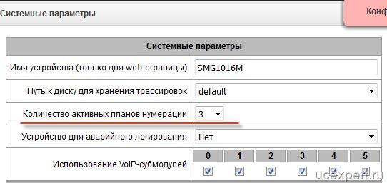 Рис. Eltex SMG. Системные параметры