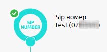 Модуль «SIP-номер»